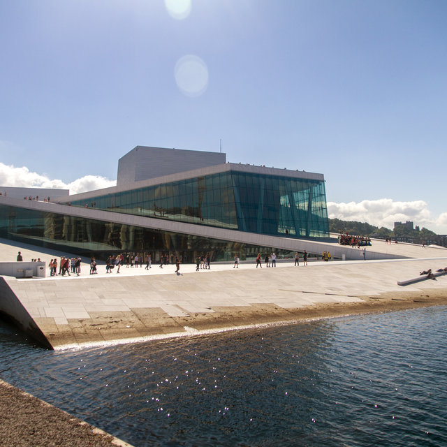 View over the Opera House in Oslo.