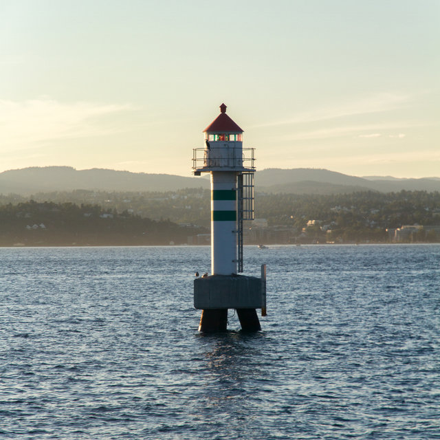 A small lighthouse in the Oslofjord.