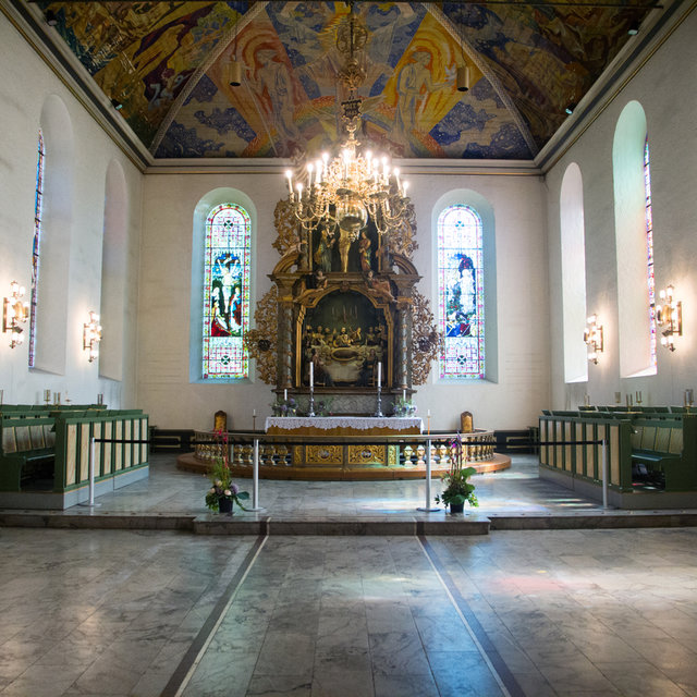 The altar of the Oslo Cathedral.