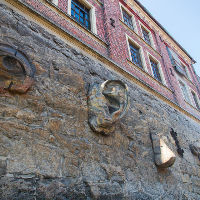 Sculptures on a house in the Grünerløkka district of Oslo.