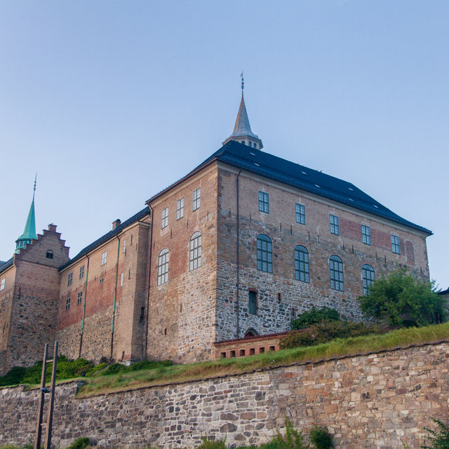 The Akershus Castle viewed from outside of the Akershus Fortress.