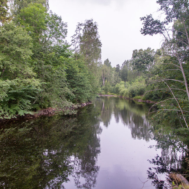 The Lysakerelven river between Oslo and Akershus.