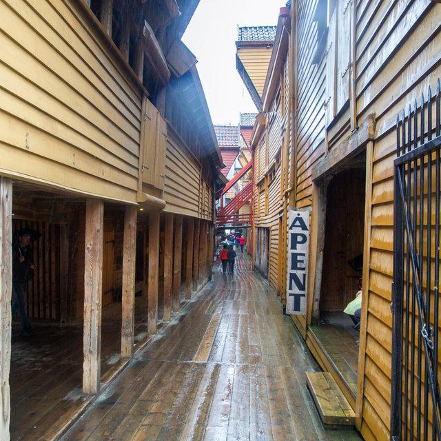 An alley in the Bryggen of Bergen.