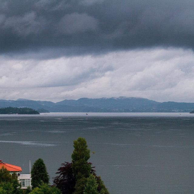 View over Byfjorden in Bergen.