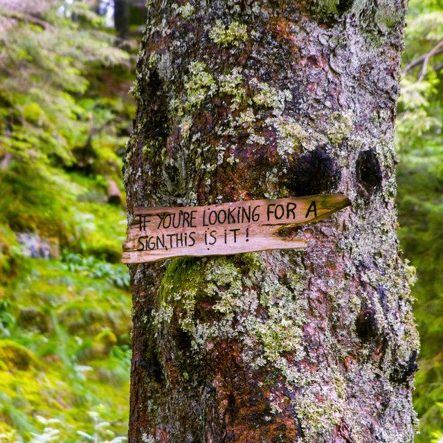Sign near lake Skomakerdiket reading