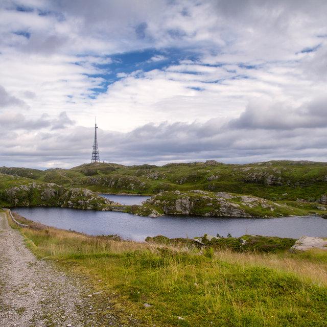 View from Mt. Blåmanen towards Mt. Rundemanen.