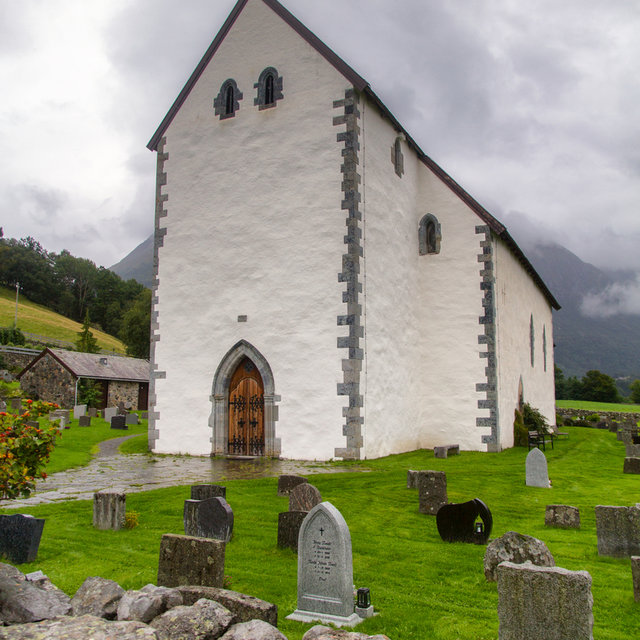 Kvinnherad Church in Rosendal, Norway.