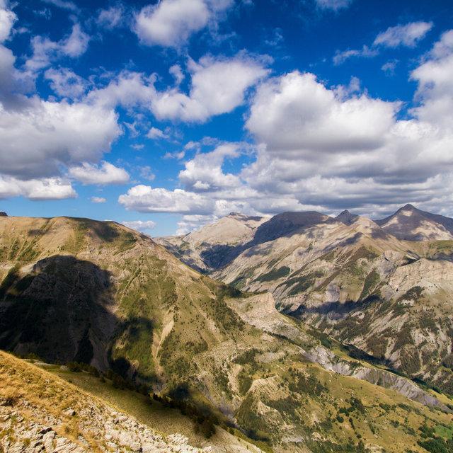View of the Alps from La Roche-Grand.